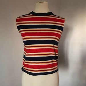Vintage, 70's muscle, striped, crop top